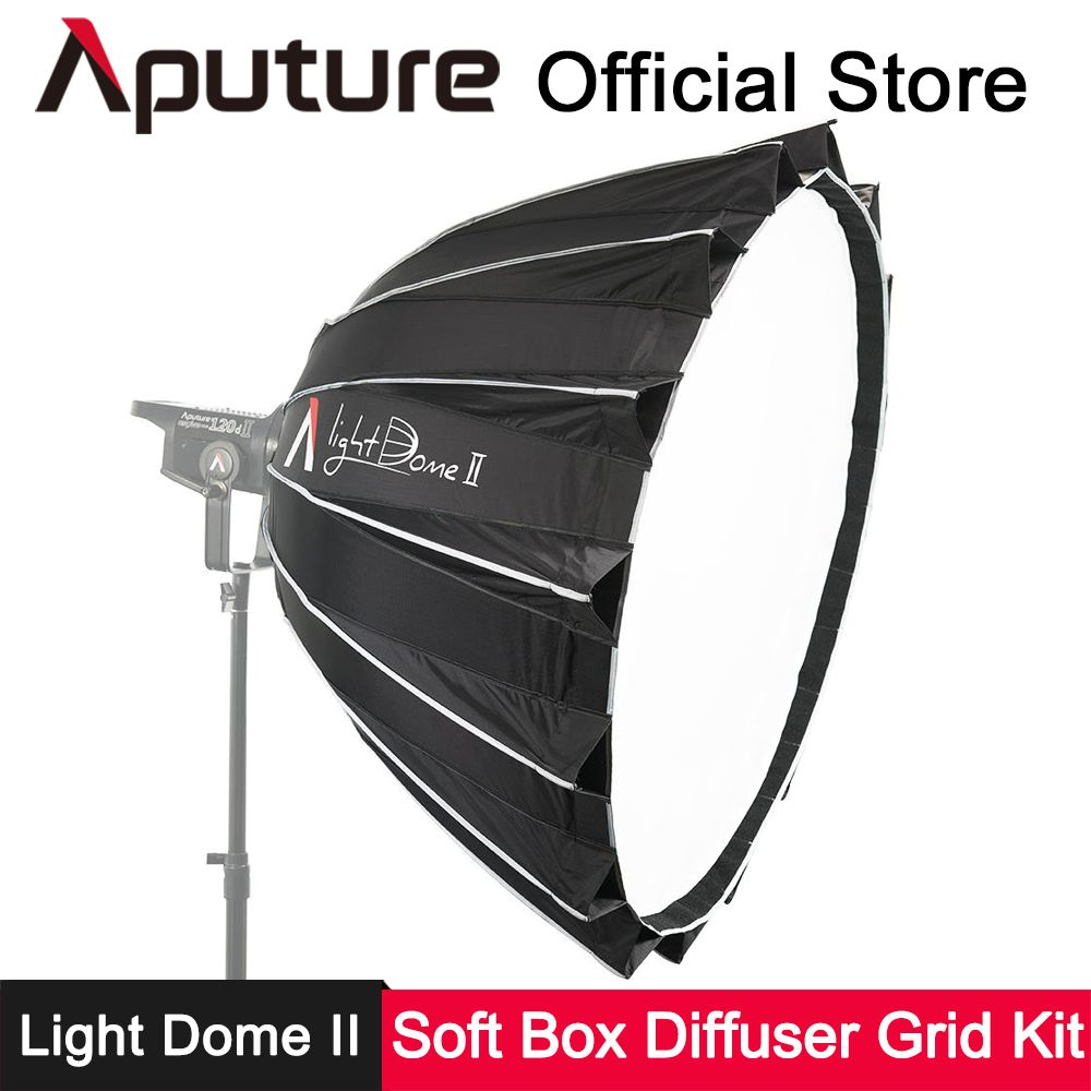 Aputure Light Dome II Deep Softbox + Diffuser Kit for Light Storm LS 120T 120D Bowens Mount LED Photography Lighting Accessories