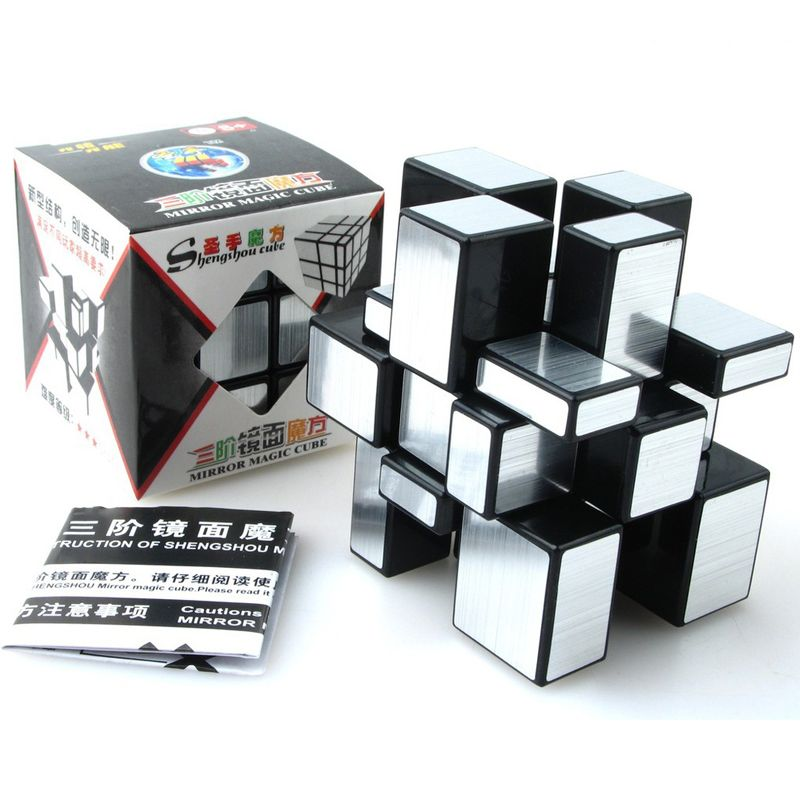ShengShou Brushed Cast Coated Mirror Blocks Cubo magic 3x3x3 Puzzle Mirror <font><b>Cubes</b></font> Educational Cubo magico kub Juguetes toys