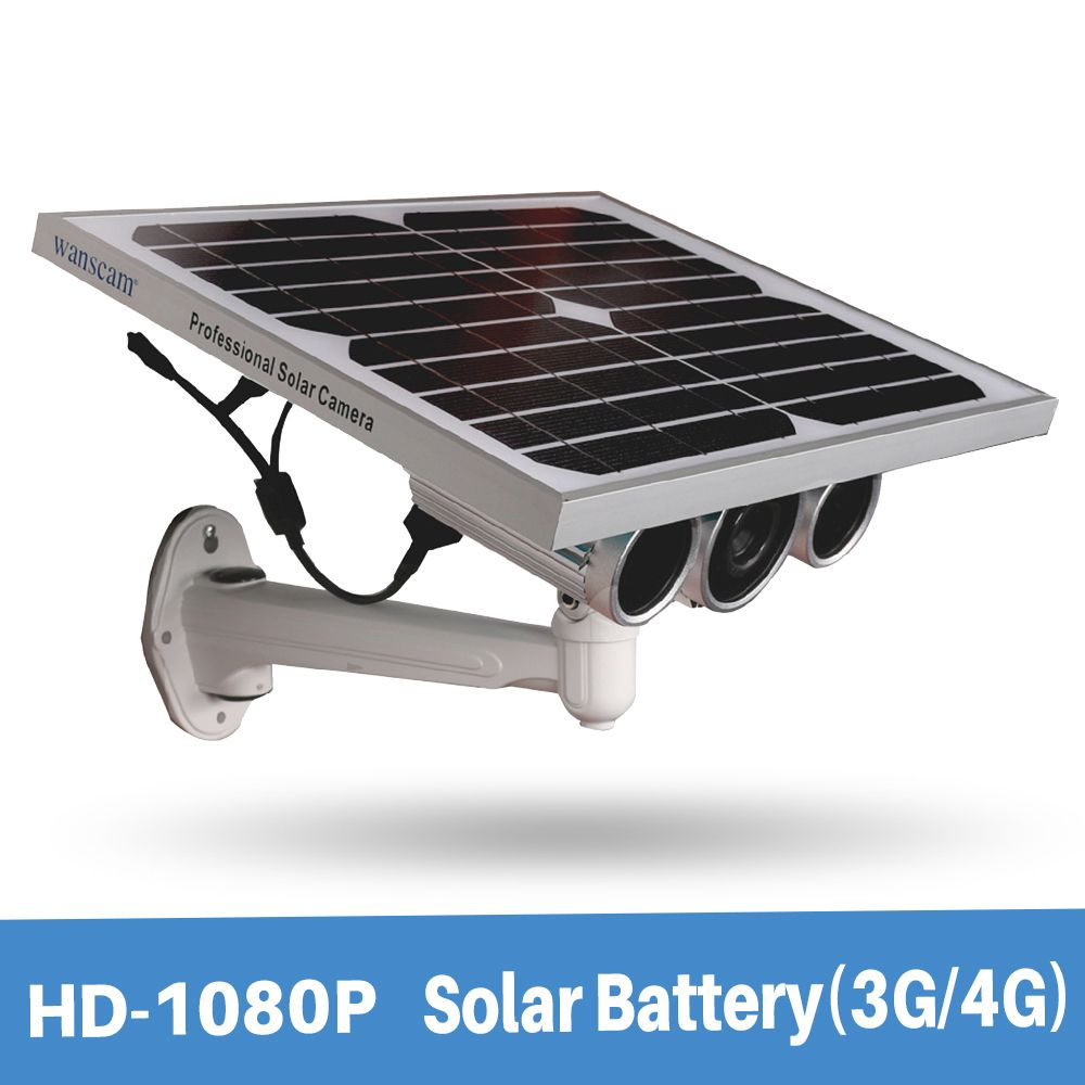 Wanscam HW0029-6 Support 3G/4G Sim Card Starlight Night Vision Onvif Two Batteries 1080P Solar Power IP Camera With 16G TF Card