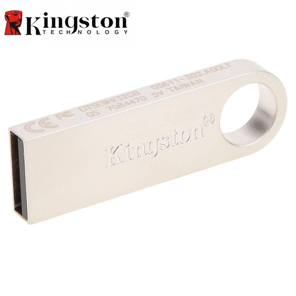 Kingston USB Flash Drive 2.0 8 gb 16 gb 32 gb Métal Flash Drive Pen Haute Vitesse Stylo Lecteur Flash pendrive Memory Stick USB Pour PC
