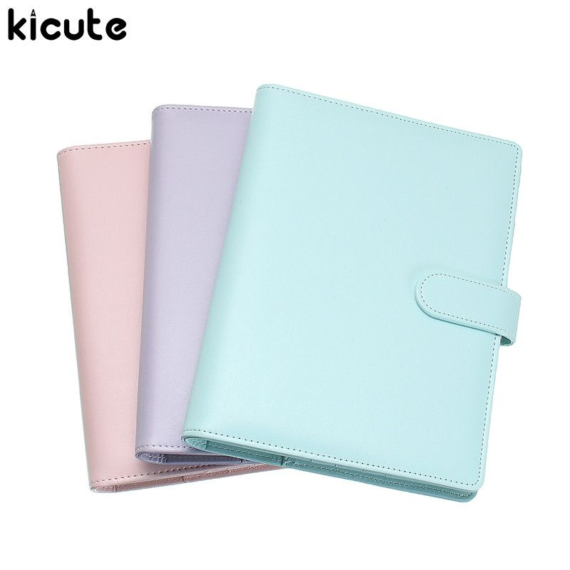 Kicute A5 Candy Farbe Loose Leaf Notebook Spiral Binder 6 Loch Lose Blatt Notizblock Wöchentlich Monatlich Planer Geschenk