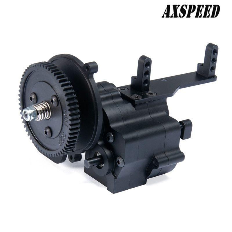 Alloy CNC chassis / gear box transfer case Center Gearbox transmission case 2 Speed for 1/10 Axial Wraith 90018 RC Crawlers