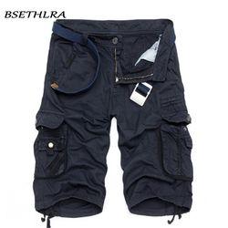 BSETHLRA 2018 nueva Shorts verano Venta caliente trabajo pantalones cortos camuflaje militar marca ropa moda Mens Cargo Shorts 29 -40