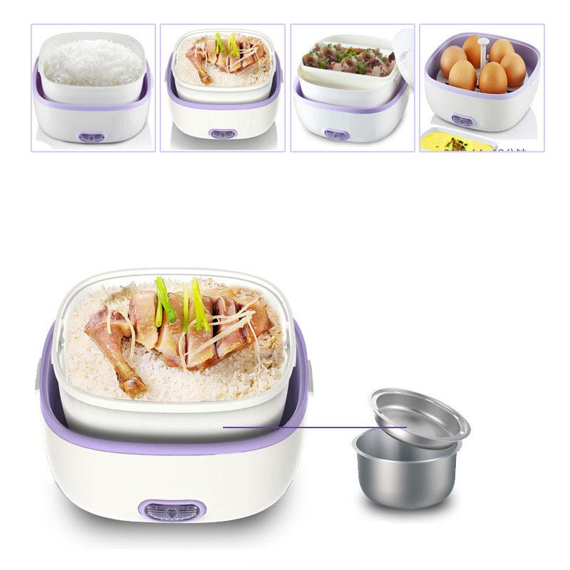 Lunch Box Heated Thermos for Food Container Heated Stainless Steel Box Food 220v Portable Electric Containers for Food Storage