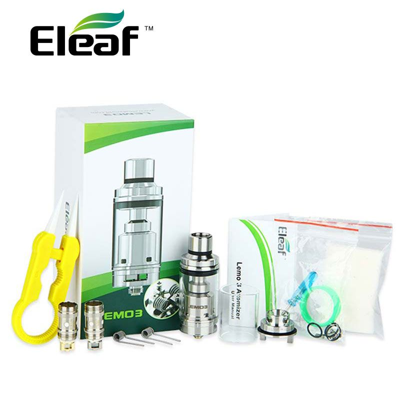 100% Original Eleaf Lemo 3 Zerstäuber Tank Mit RTA Basis 4 ml Kapazität Top e-liquid Füllung E-zigarette Tank 510 gewinde