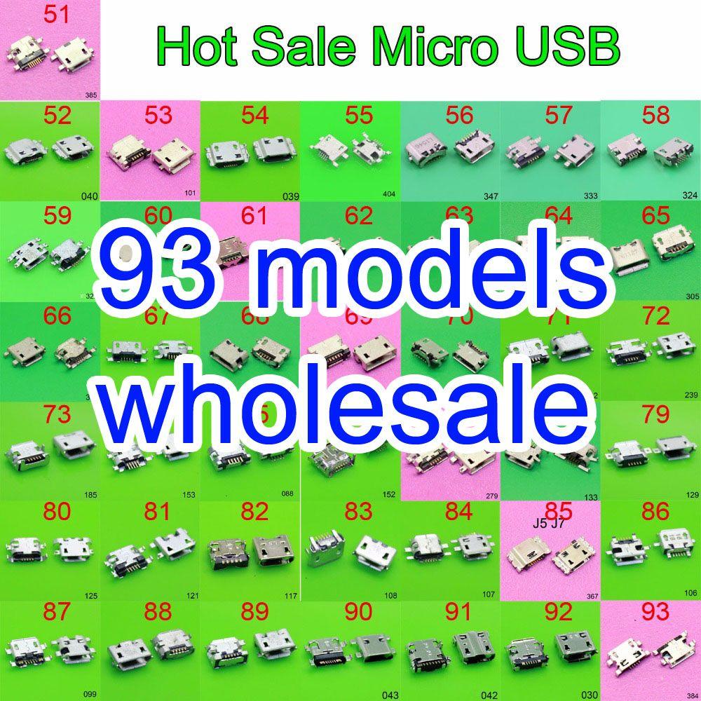 93 modèle micro usb jack connecteur de charge Port plug socket 5Pin pour Samsung XIAOMI HTC Lenovo Huawei mobile téléphone tablet pc mi