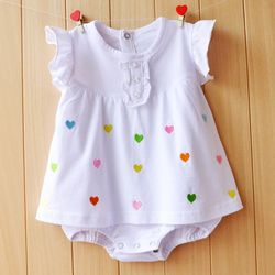 Baby Girl Rompers Summer Girls Clothing Sets Roupas Bebes Flower Newborn Baby Clothes Cute Baby Jumpsuits Infant Girls Clothing