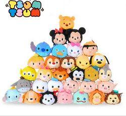 9 Cm TSUM TSUM Mini Mewah Mainan Boneka Layar Cleaner Mickey Minnie Winnie Ariel Alice Dumbo Baymax TSUM Gantungan Kunci Liontin