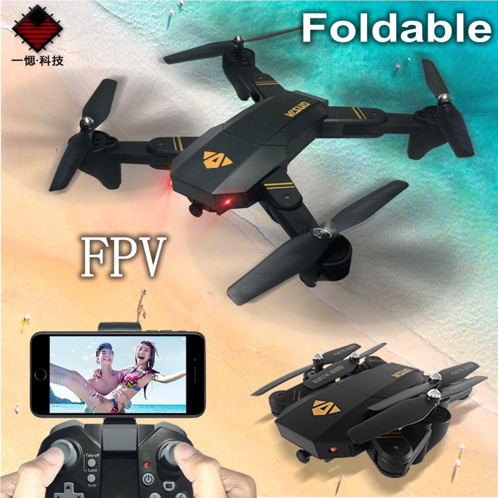 Mini Drone pliable XS809W XS809HW avec caméra Wifi FPV HD grand Angle maintien d'altitude Drone quadrirotor RC FSWB