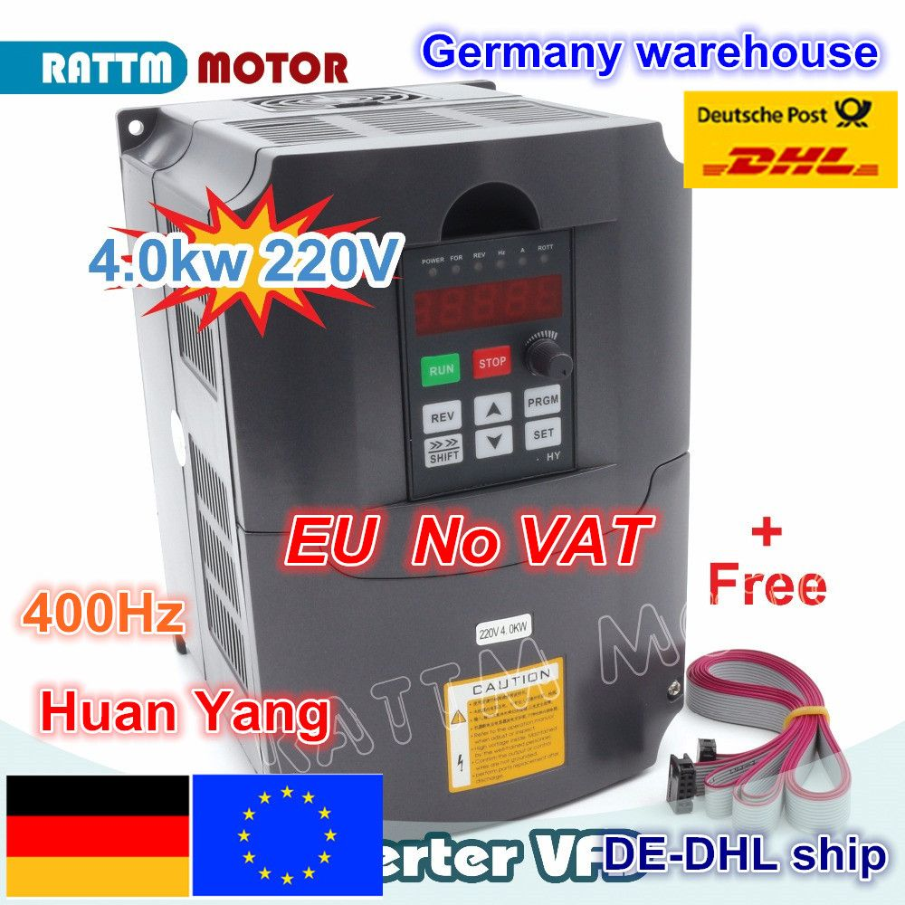 From Germany /free shipping Real Special Offer 4KW Variable Frequency Drive VFD Inverter 4HP-18A VSD speed control
