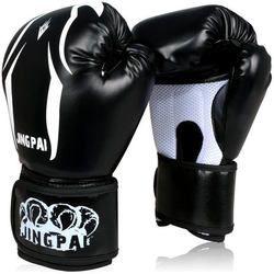 Boxen Handschuhe kick Boxing Handschuhe PU Leder Halb Muay Thai karate taekwondo Training Boxen Sanda Handschuhe