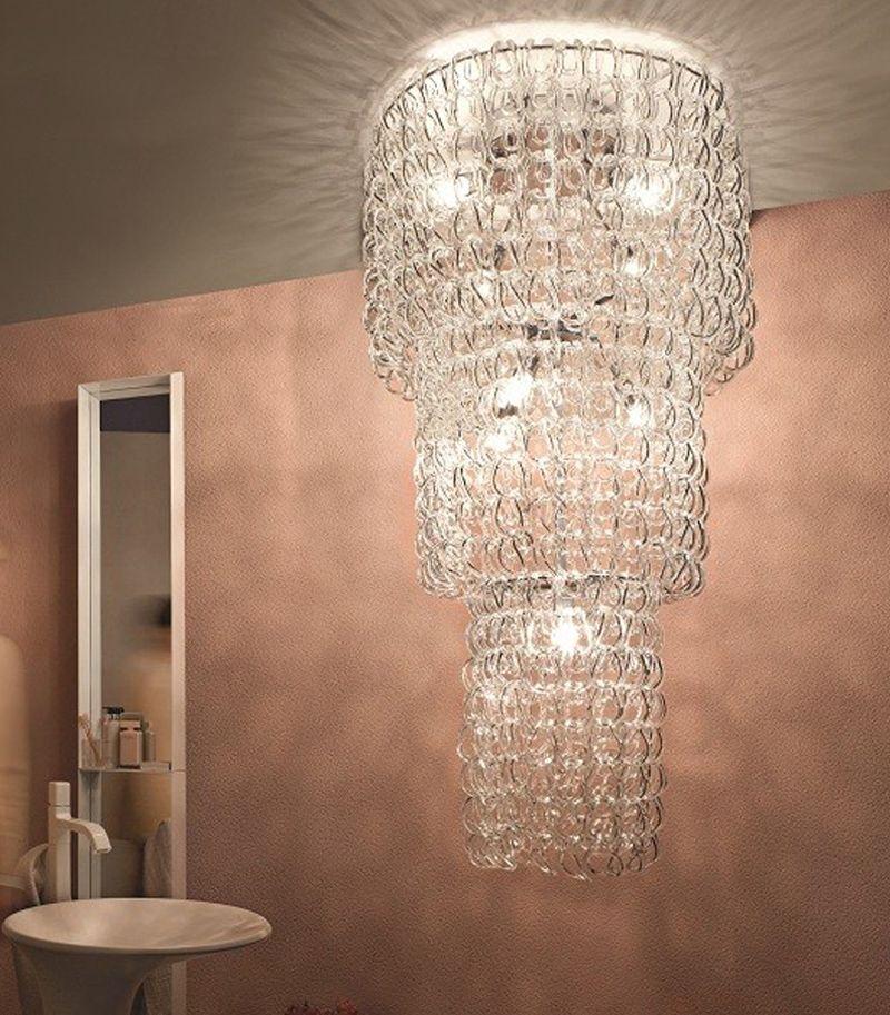 Giogali PL CA1/ CA2/ CA3 Pendant Suspension Light By Angelo Mangiarotti from Vistosi Lighting Fixture Hanging Lamp