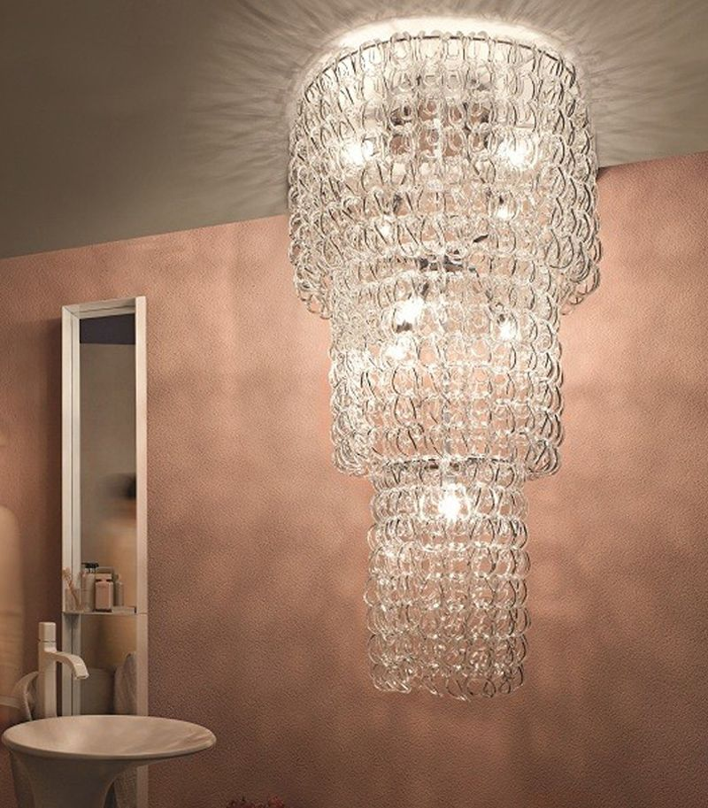Giogali PL CA1/ CA2/ CA3 Pendant Suspension Light By Angelo Mangiarotti from Vistosi Lighting Fixture Hanging Lamp