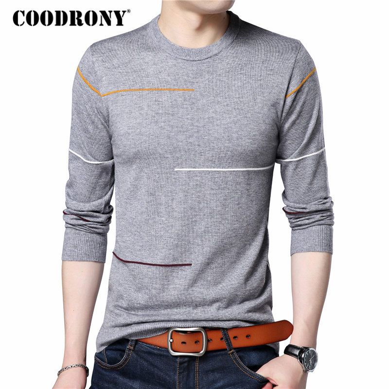 COODRONY Cashmere Wool Sweater Men Brand Clothing 2017 Autumn Winter New Arrival Slim Warm Sweaters O-Neck Pullover Men Top 7137