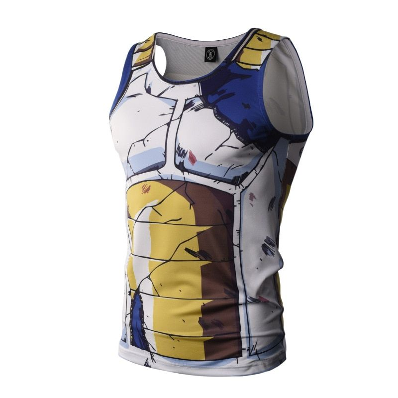 Bodybuilding Dragon Ball Tank hauts hommes dessus d'anime Naruto gilet Fitness hauts t-shirts super saiyan singlets ZOOTOP ours