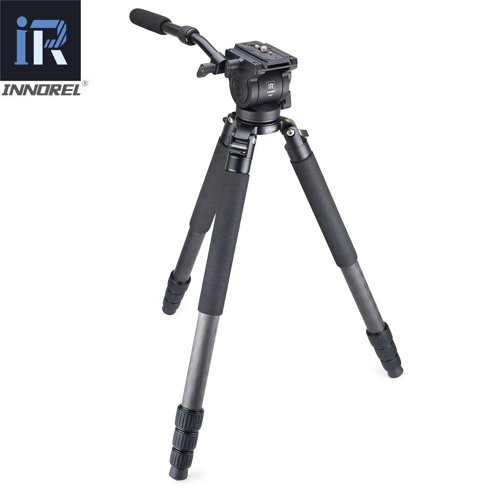 RT80C Professional carbon fiber video fluid head tripod for ARRI RED BMCC DSLR camera camcorder 20kg load bowl tripod