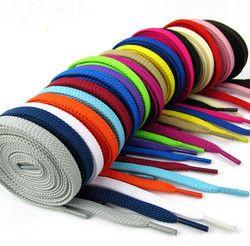 Classique Plat Double Couches Coton Lacets 120 CM Longue Corde De Sport Lacets Lacets 2 Paire Par Lot