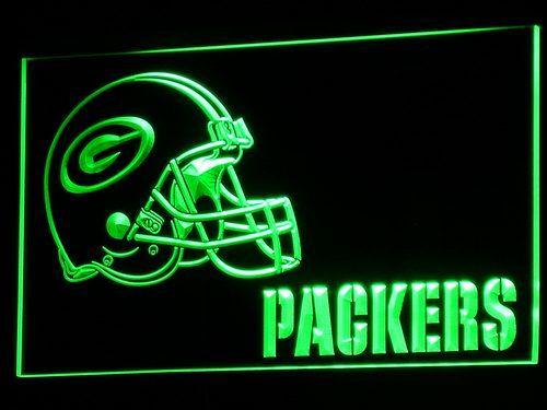 B320 Green Bay Packers Casque LED Néon Signe avec On/Off 20 + couleurs 5 Tailles à choisir 20 + Couleurs 5 Tailles envoyé en 24 heures