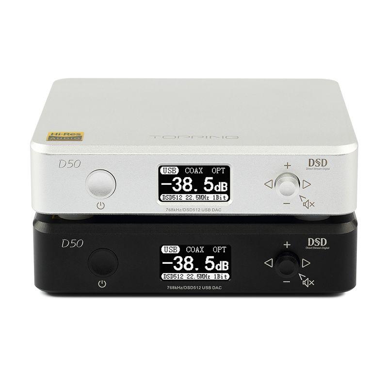 TOPPING D50 USB DAC MINI HIFI AUDIO Decoding Customized Thesycon driver ES9038Q2M DSD512/PCM768 USB/OPT/COAX input XMOS
