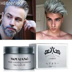 Unisex Color Hair Wax Dye One-time Molding Paste Seven Colors Available BLUE Burgundy Grandma Gray Green Hair Dye Wax