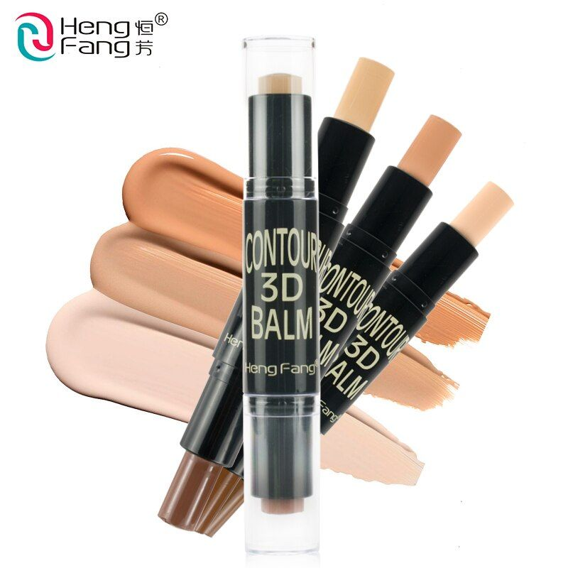 2 dans 1 Teint + Embellir Surligneur et Shimmer Bâton Concealer Bronzer 3 Couleurs 6.2g Visage Maquillage Marque HengFang # H8449
