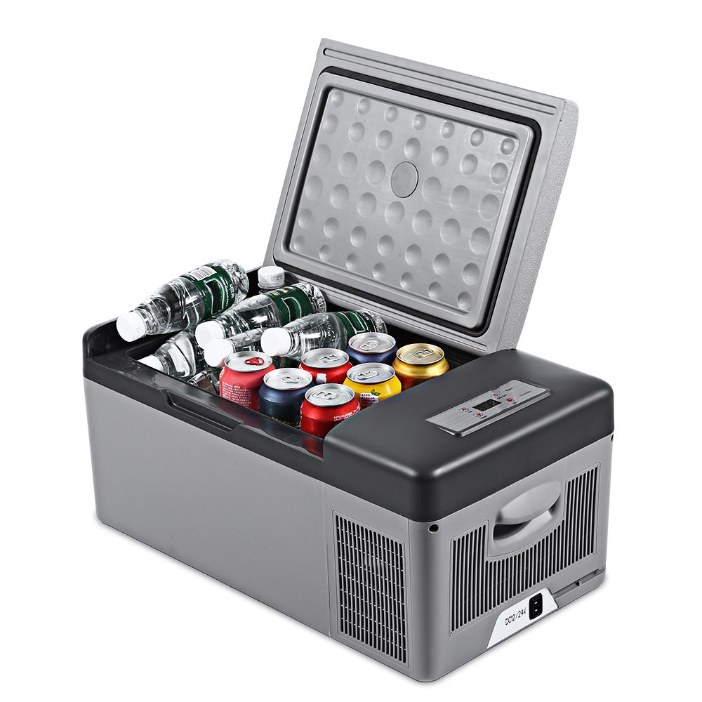 C15 15L Portable Refrigerator for Car Home Picnic Camping Party Shock Resistant With Portable Handles -20 Deg.C Freeze Fridge