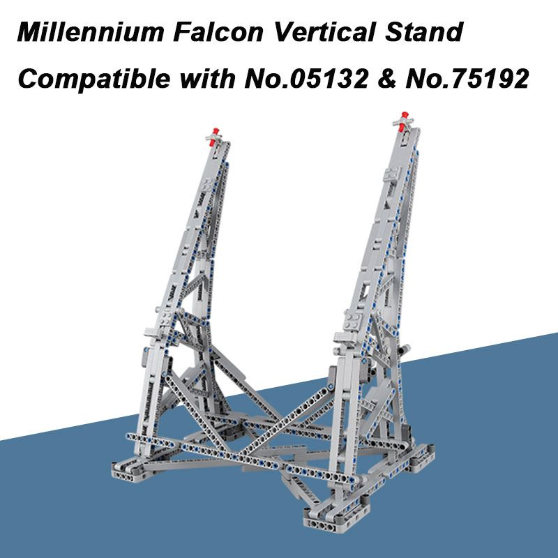 MOC Millennium Falcon Vertical Display Stand Compatible with Ultimate Collector's Model No.05132 and No.75192