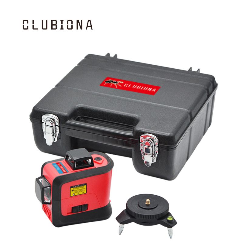 CLUBIONA 3D 360 rotary 12 cross level <font><b>Laser</b></font> lines with tilt slash function, vertical & horizontal Super Powerful receiver OK