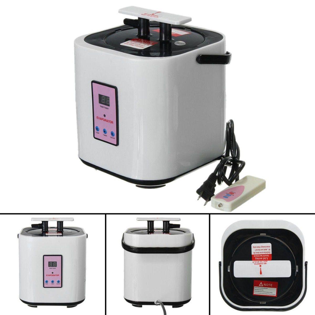 2 liter Hause Dampf Generator Sauna Edelstahl Dampfer Topf Für Tragbare Dampf Saunen Hause Sauna
