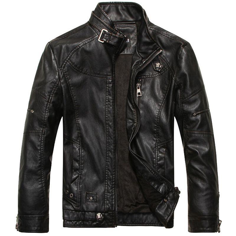 Кожаная куртка Для мужчин Мото-куртки jaqueta de couro masculina motoqueiro casaco мужской кожаный куртка-пилот Для мужчин S Весте Homme