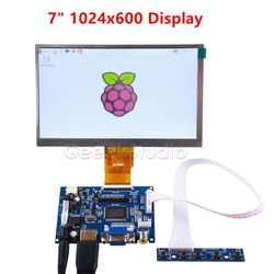 Raspberry Pi 7 zoll LCD Display 1024*600 TFT Monitor Bildschirm mit Stick Board für Raspberry Pi 2/ 3 modell B