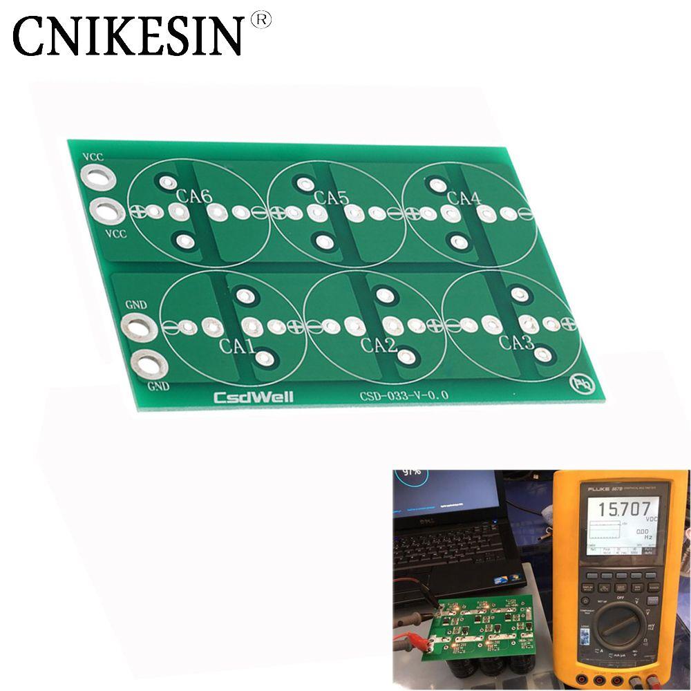 CNIKESIN Six série plaque 50F 100F 220F 360F 2.7 V 500F 400F six série super condensateur tous plaque plaque de protection