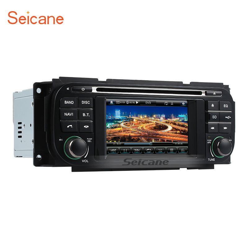 Seicane WinCE 6,0 auto DVD Radio für 1999-2004 Jeep Grand Cherokee kopf Auto A/V DVD Radio GPS-Navigation mit Touchscreen
