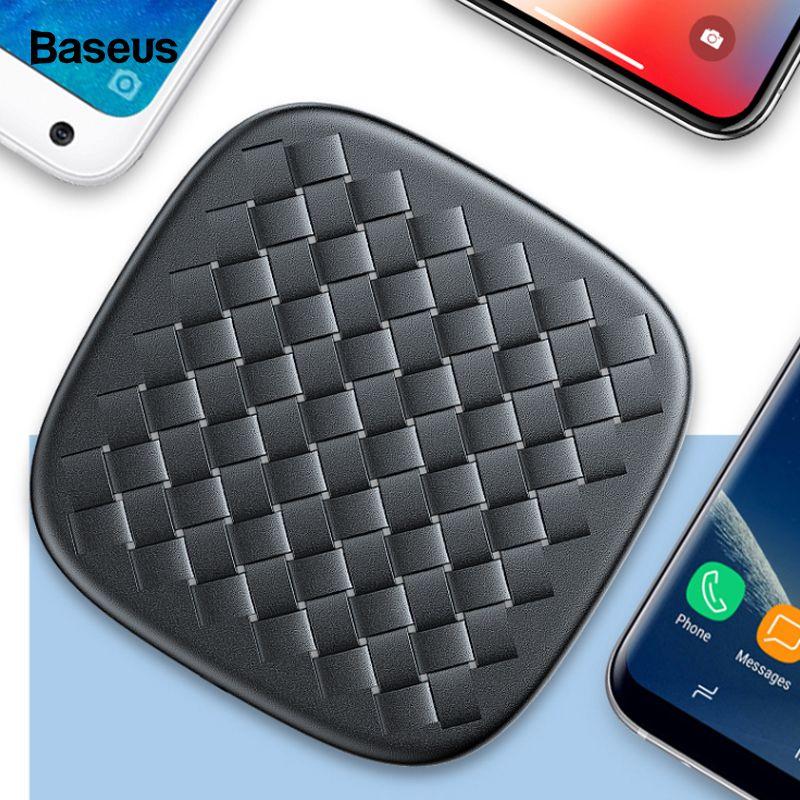 Baseus 10 W QI Sans Fil Chargeur Pour iPhone Xs Max X Samsung Huawei Compagnon 20 Pro Xiaomi de Mélange 3 2 s Rapide Wireless Recharge Sans Fil Pad