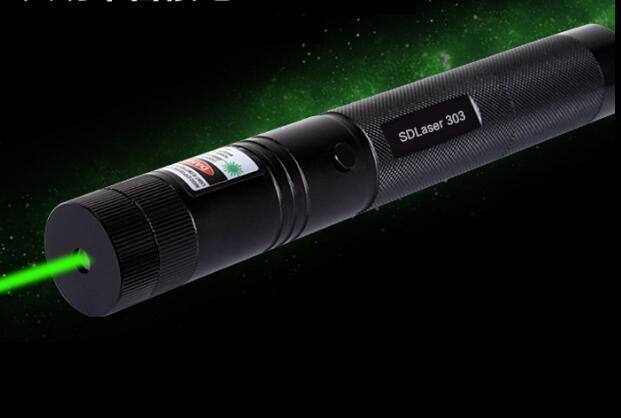 50W 50000MW 532nm Professional Powerful SDLaser 303 Green Laser Pointer Laser Light  Focus Burning Burn Cigarette Wood Matchs