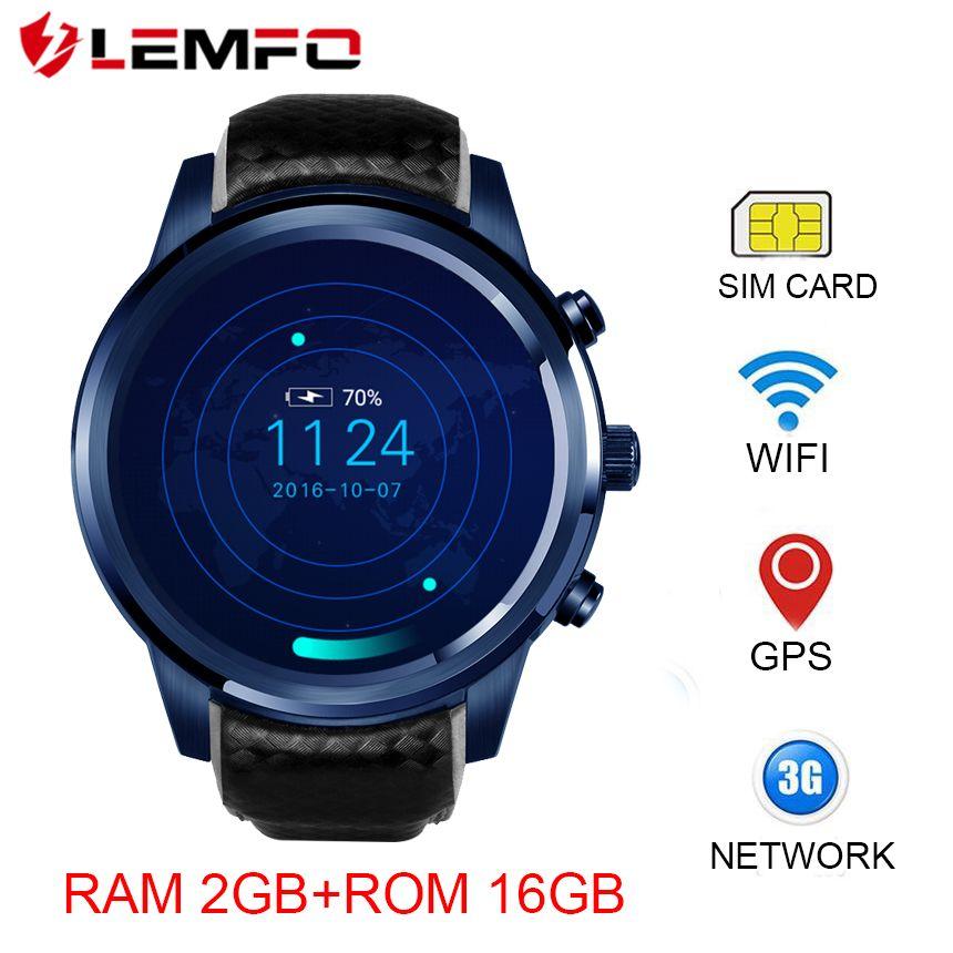 Lemfo lem5 Pro Smart Часы Bluetooth 4.0 Смарт-часы Android sim-карты, Смарт-часы GPS Водонепроницаемый 3G сердечного ритма Мониторы
