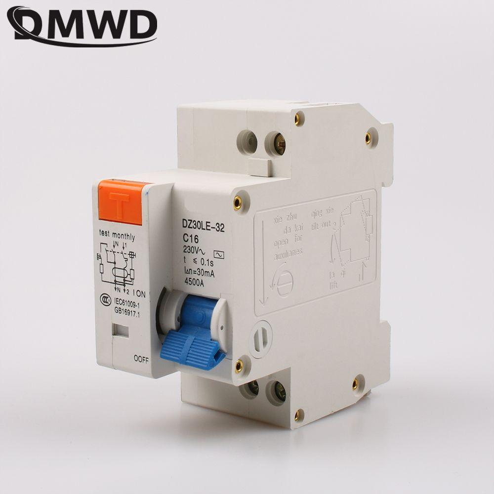 DMWD DPNL 1 P + N 16A 220 V 230 V 50 HZ/60 HZ fehlerstromschutzschalter mit überstromschutz und Leck RCBO