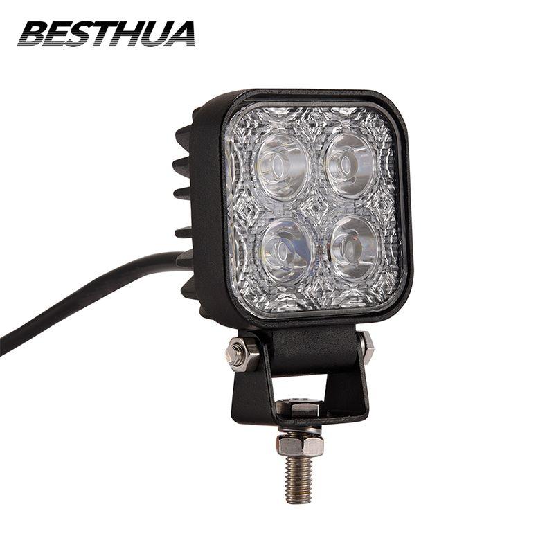 1 шт. 900LM мини 6 дюймов 12 Вт 4x3 Вт автомобиля светодиодные работы крючок как Worklight/ прожектор/пятно света Off Road для автомобиля внедорожник ATV