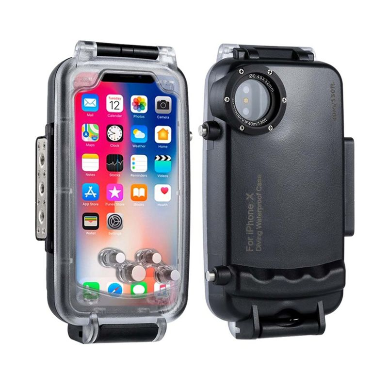 HAWEEL Diving Protective Case For iPhone X Professional Waterproof 40M/130ft <font><b>Underwater</b></font> Photography Housing for iPhone 10 cover