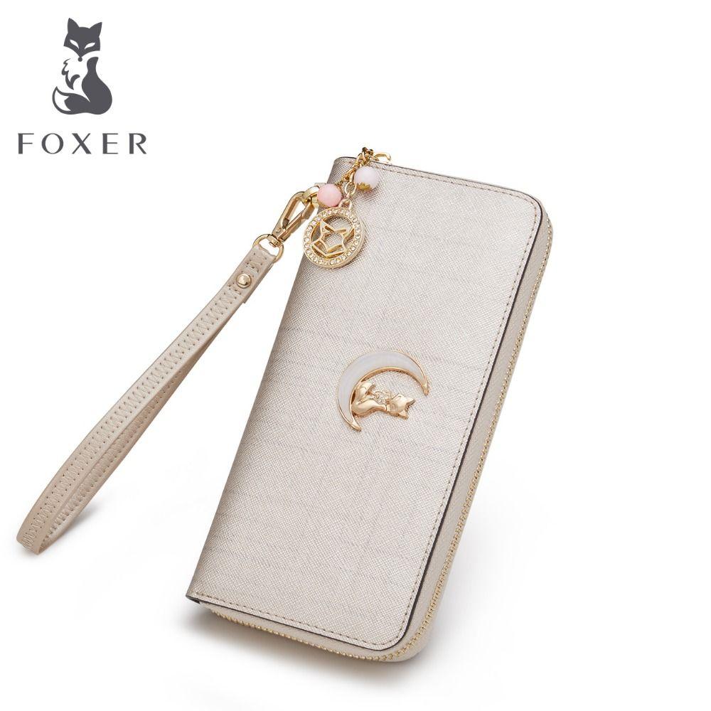 FOXER бренд Для женщин кожаный бумажник Повседневное клатч Сумки Для женщин портмоне Для женщин-кошелек женский длинный Женские Кошельки