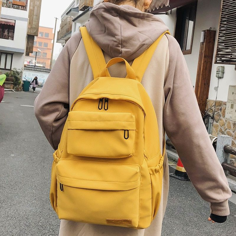 DCIMOR New Waterproof Nylon Backpack for Women Multi Pocket Travel Backpacks Female School Bag for Teenage Girls Book Mochilas