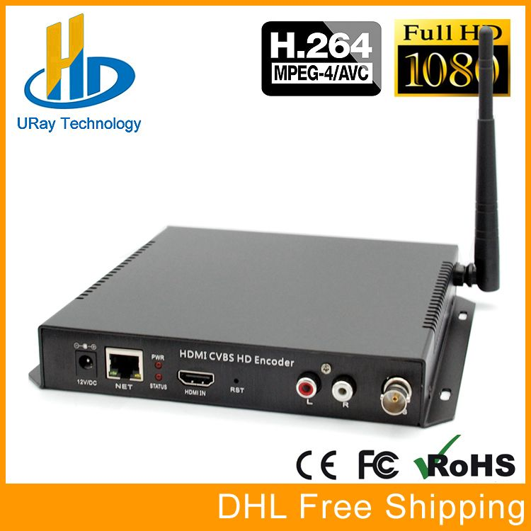 HDMI + CVBS AV WiFi Encoder HD SD Video Audio Encoder H.264 Hardware IP Encoder Support PAL NTSC For IPTV, Live Stream, Server