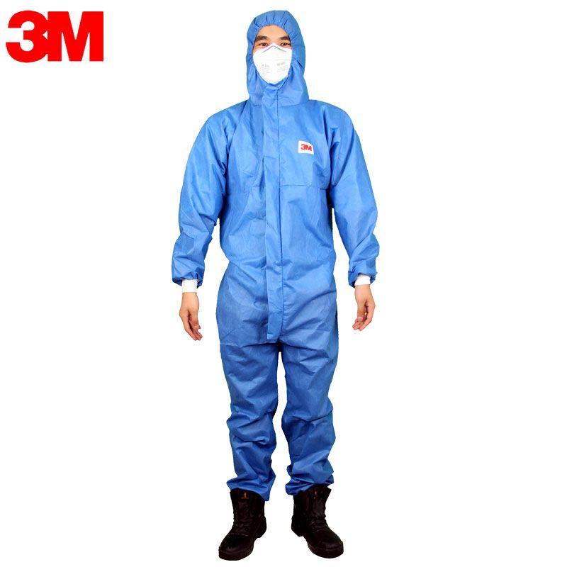 3 Mt Schutzanzug 4532 Mit Kapuze Schutz Elastische Taille Kleidung Gegen Trockenen Partikeln antistatische Beschichtung Serge Typ LO001