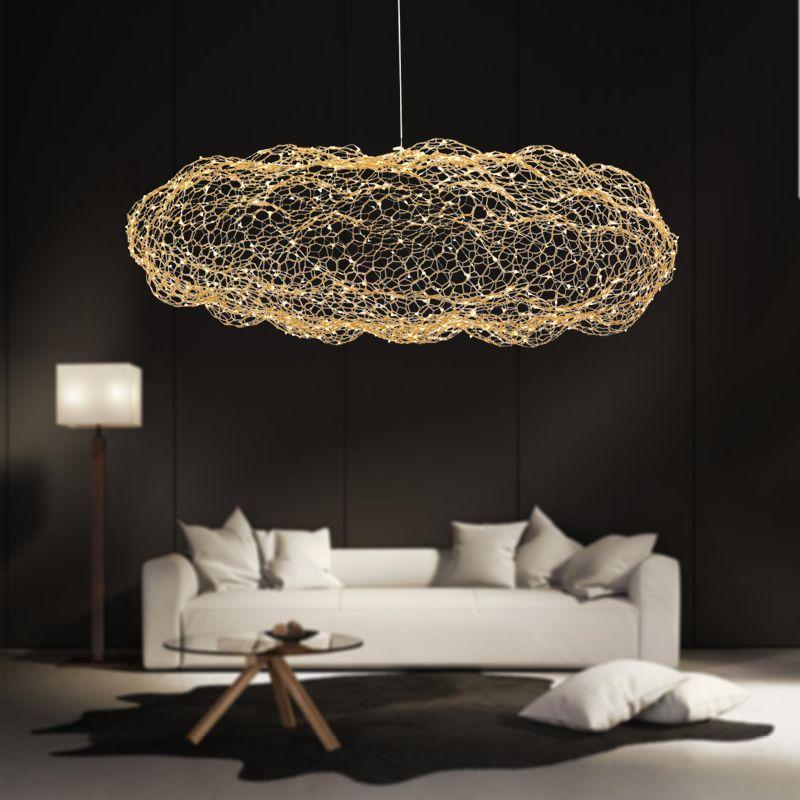 Moderne kreative wolke leuchten led anhänger lampe starry persönlichkeit hotel restaurant bar designer firefly moderne glanz