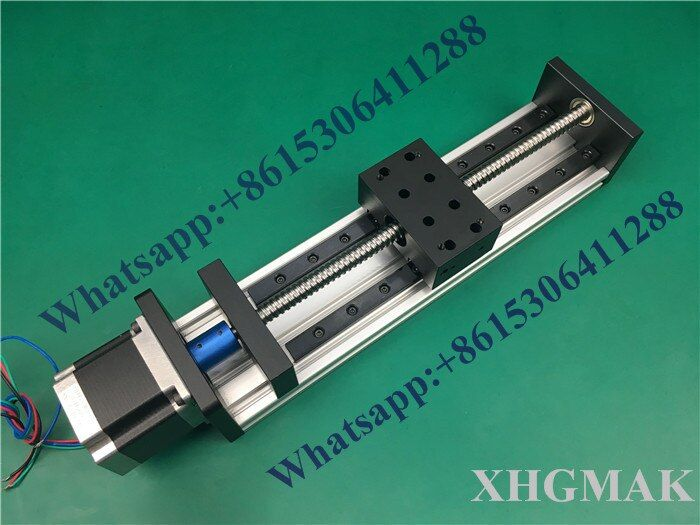 High Precision GX80*50mm Ballscrew 1204 1200mm  Effective Travel+ Nema 23 Stepper Motor  CNC Stage Linear Motion Moulde Linear