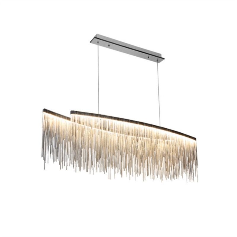Modern Simple led Lustre chandelier for living room bedroom dining room lamps Hanging chain chrome chandeliers light fixturs