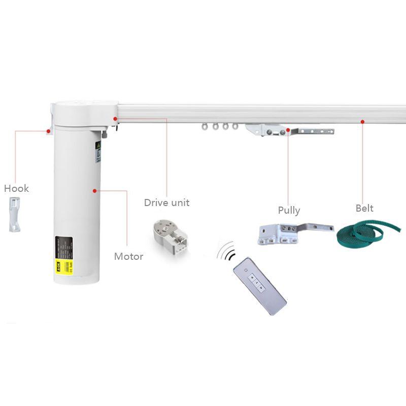 Freies verschiffen STILLE elektrische vorhang blind, 3,0-5,0 mt breite, maßgeschneiderte größe, App und Android steuer akzeptabel