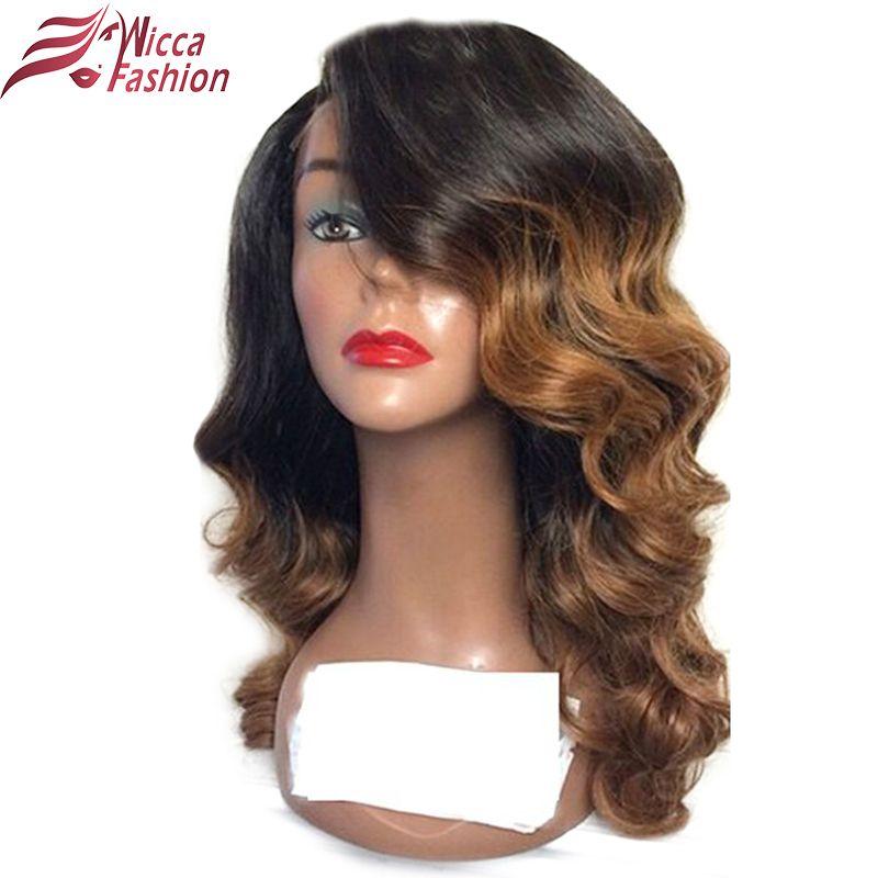 Träumen schönheit Ombre Farbe Spitzefrontmenschenhaarperücken mit Baby Haar Vor Gezupft Haaransatz Nicht Remy Brasilianisches Haar