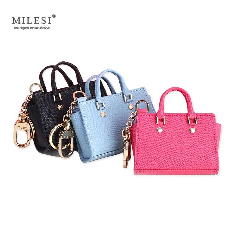 MILESI Women's Good Taste Mini Wings Bags Hang Queen Style Keychain for Handbags Change Purse MP372