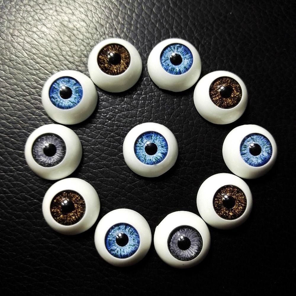 60 pcs 16*16mm BJD poupées yeux En Plastique Globes Oculaires de Haute Qualité poupée accessoires BJD Jouets Accessoires Demi Rond yeux Gros